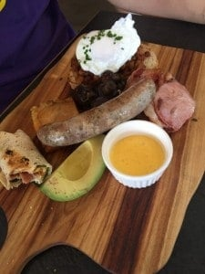 Famished On Frasier Review - Eat Out With Families - a big lunch sausage, avocado, bacon, egg