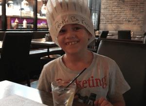 Nonna's Harbourtown little boy in chef's hat