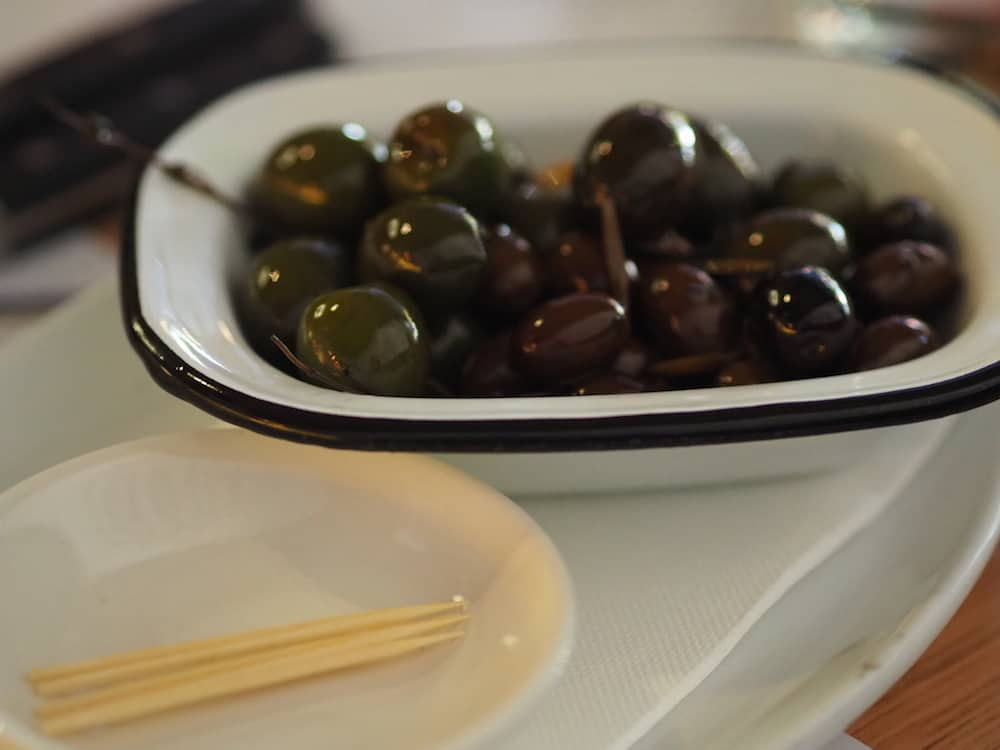 Warm olives at Harry's Steak Bistro and Bar - Burleigh Heads