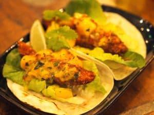 Fish tacos at La Barrita