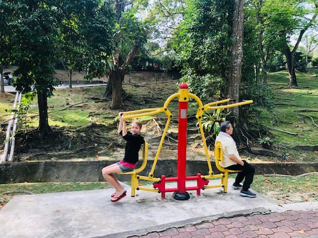 exercise equipment at youth park penang