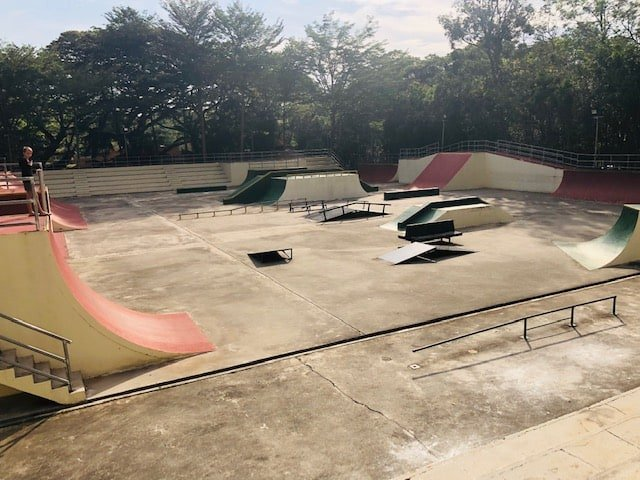 skating rink at youth park penang