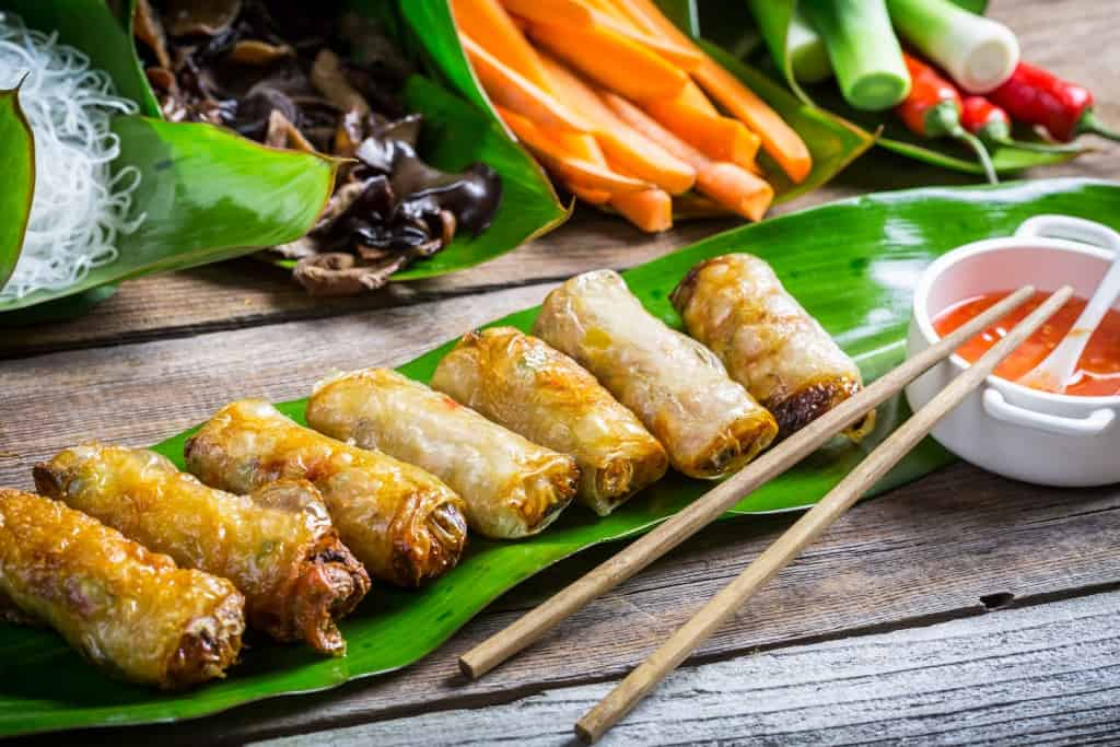 Best Vietnamese restaurants Brisbane - Fried spring rolls