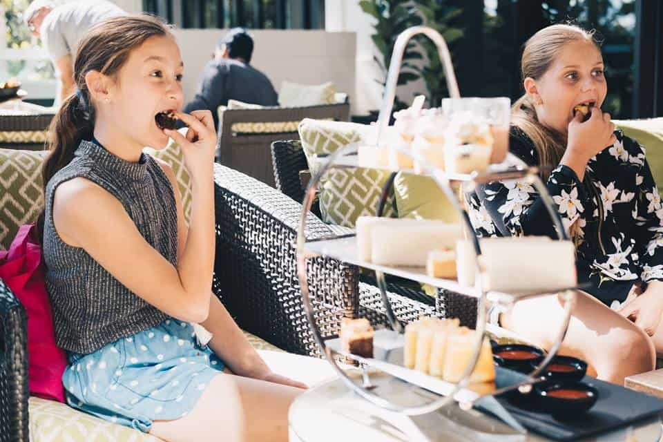 best high teas on the gold coast with kids surfers marriott