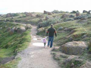 Walking around Granite Island SA